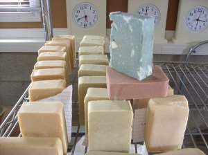 Goat Milk Soap (Cedarwood Bottom Left)