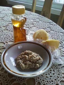 Honey Lemon Oatmeal Scrub