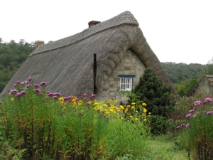 french thatched roof cottage