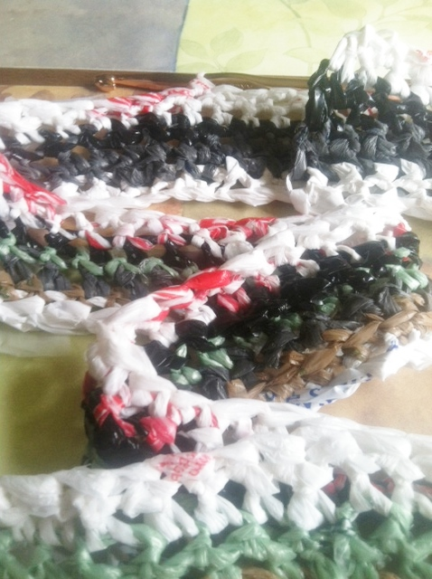 Crocheted Plarn Rug Annies Goat Hill Handcrafted Soaps