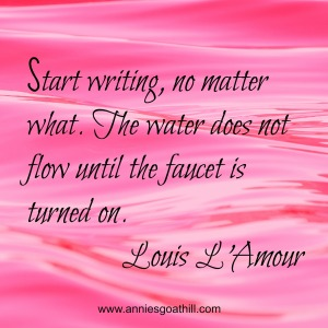 start writing www.anniesgoathill.com